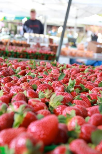 Strawberries at the Winter Park Farmer's Market last Saturday