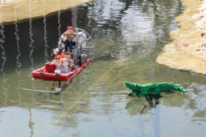Lego men about to get eaten.