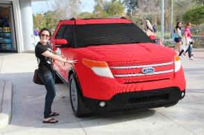 Life-sized Lego car!