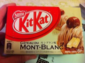 Chestnut pastry flavored kit-kat!