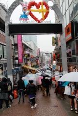 Harajuku in the rain
