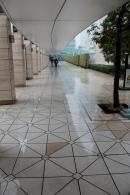 Slippery walkway