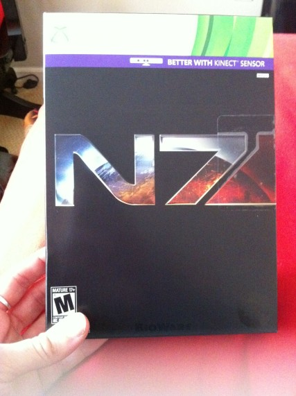 Dad brought me my Mass Effect 3!