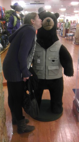Becky has fallen for this bear