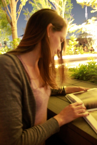 Kate Looking at Book