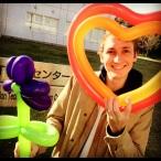 A fellow ALT, Bobby, shows off his balloons