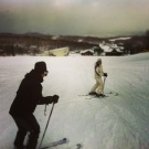 I was helping Yuu ski!