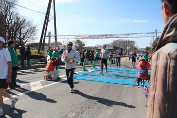 He raced to the finish