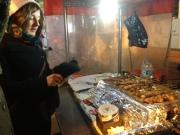 Becky orders street food