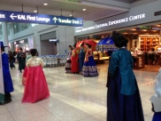"Korean ""royal family"" in the airport"