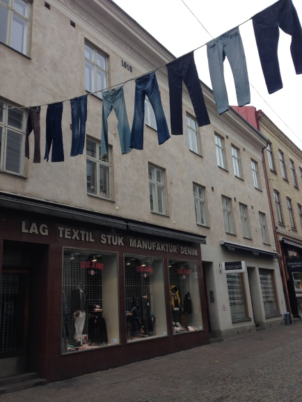 Banners made of jeans