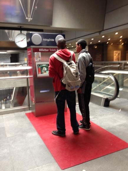 Sing to get a subway ticket as a Eurovision promotion
