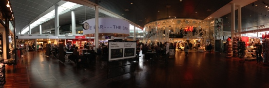 The airport is more a mall than any other airport I've seen!