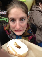 I bought Becky a cronut... she was terrified of it