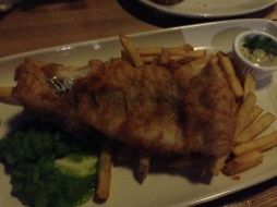 But what trip to England is complete without fish & chips