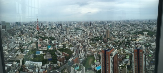View from Roppongi Hills art gallery