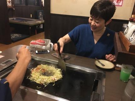 Okonomiyaki with Yukari-san